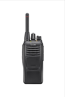 Picture of Icom IC-F29SR2 PMR446 Walkie-Talkie Two Way Radio & D-Shape Earpiece with Mic & PTT (New)