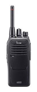 Picture of Icom IC-F29DR2 Digital PMR446 Walkie-Talkie Two Way Radio With New BP-279 Li-ion Battery Pack & BC-213 Desktop Charger & D-Shape Earpiece with Mic & PTT (New)