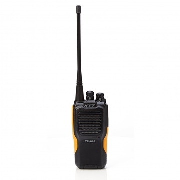 Picture of HYT TC610 UHF Walkie-Talkie Two Way Radio (New) & New D-shape Earpiece with Mic & PTT