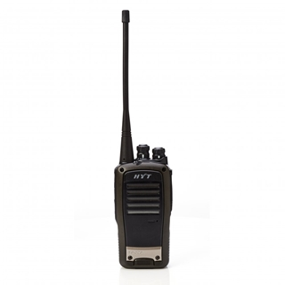 Picture of HYT TC620 UHF Walkie-Talkie Two Way Radio (New) & New D-shape Earpiece with Mic & PTT