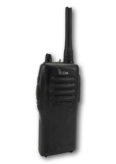 Picture of Icom IC-F22S UHF Walkie-Talkie Two Way Radio (Used) & New D-Shape Earpiece with Mic & PTT