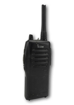 Picture of Icom IC-F22S UHF Walkie-Talkie Two Way Radio (Used) & New G-Shape Earpiece with Mic & PTT