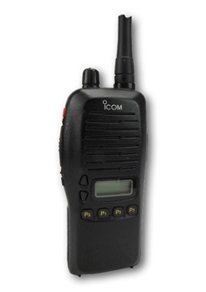 Picture of Icom IC-F4GS UHF Walkie-Talkie Two Way Radio (Used) & New G-Shape Earpiece with Mic & PTT