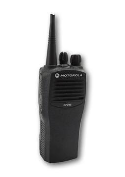 Picture of Motorola CP040 UHF Walkie-Talkie Two Way Radio (Refurbished) & New Speaker Mic