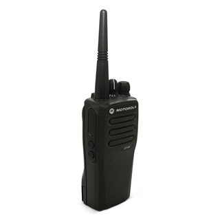 Picture of Motorola DP1400 UHF Walkie-Talkie Two Way Radio (Refurbished) & New D-Shape Earpiece with Mic & PTT