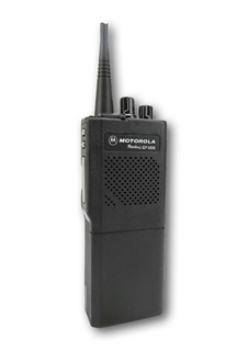 Picture of Motorola GP300 UHF Walkie-Talkie Two Way Radio (Refurbished) & New Covert Earpiece with Mic & PTT