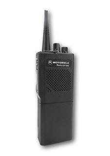 Picture of Motorola GP300 UHF Walkie-Talkie Two Way Radio (Refurbished) & New D-Shape Earpiece with Mic & PTT