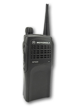Picture of Motorola GP320 UHF Walkie-Talkie Two Way Radio (Refurbished) & New Covert Earpiece with Mic & PTT