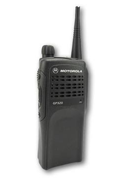Picture of Motorola GP320 VHF Walkie-Talkie Two Way Radio (Refurbished) & New G-Shape Earpiece with Mic & PTT