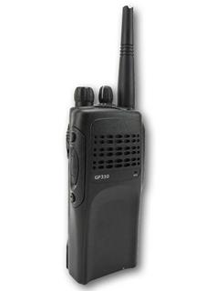 Picture of Motorola GP330 UHF Walkie-Talkie Two Way Radio (Refurbished) & New Covert Earpiece with Mic & PTT