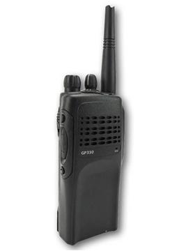 Picture of Motorola GP330 VHF Walkie-Talkie Two Way Radio (Refurbished) & New G-Shape Earpiece with Mic & PTT