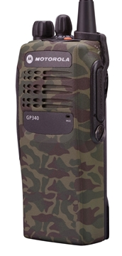 Picture of Motorola GP340 UHF Walkie-Talkie Two Way Radio (Refurbished) Camo Green