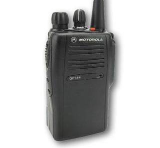 Picture of Motorola GP344 UHF Walkie-Talkie Two Way Radio (Refurbished) & New Covert Earpiece with Mic & PTT