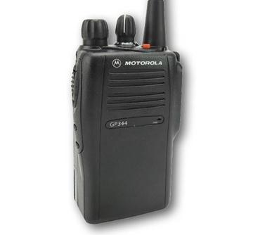 Picture of Motorola GP344 VHF Walkie-Talkie Two Way Radio (Refurbished) & New D-Shape Earpiece with Mic & PTT