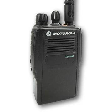 Picture of Motorola GP344R UHF Walkie-Talkie Two Way Radio (Refurbished) & New Covert Earpiece with Mic & PTT