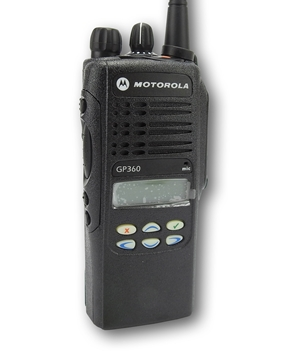 Picture of Motorola GP360 UHF Walkie-Talkie Two Way Radio (Refurbished) & New D-Shape Earpiece with Mic & PTT