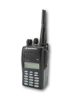 Picture of Motorola GP388 UHF Walkie-Talkie Two Way Radio (Refurbished) & New Covert Earpiece with Mic & PTT