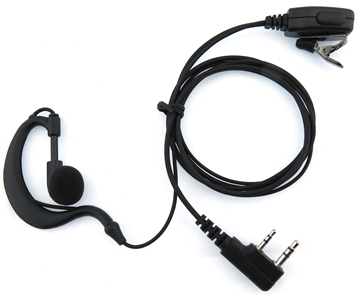 Picture of Baofeng G-Shape Earpiece with Mic & PTT (K1) - By Radioswap