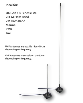 Picture of Cleartone UHF Range Extender Micro Magmount Antenna - By Radioswap