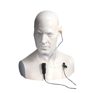 Picture of Entel EA15/450 Covert Acoustic Tube Earpiece with Mic & PTT For HX Series (New)