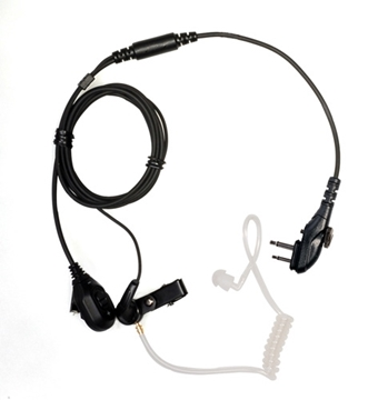 Picture of HYT EAM13 2 Wire Surveillance Earpiece with Volume Control Knob, Transparent (M1) (New)