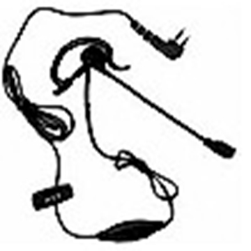 Picture of HYT EHM01 G-Shape Earpiece with Boom Mic & Inline (M1) (New)