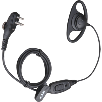 Picture of HYT EHM15 D-shape Earpiece with In-line Mic And VOX (M1) (New)