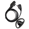 Picture of Hytera D-Shape Earpiece with Mic & PTT (PD7XX) - By Radioswap