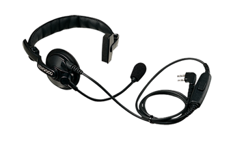 Picture of Kenwood KHS7A Single Muff Headset with Boom Microphone & PTT (K1) (New)