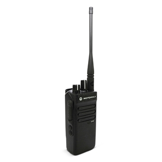 Picture of Motorola DP2400 UHF Walkie-Talkie Two Way Radio (Refurbished) & New G-Shape Earpiece with Mic & PTT
