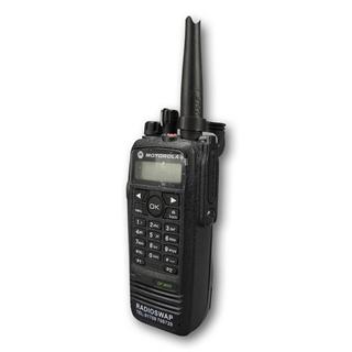 Picture of Motorola DP3600 UHF Walkie-Talkie Two Way Radio (Refurbished) & New G-Shape Earpiece with Mic & PTT