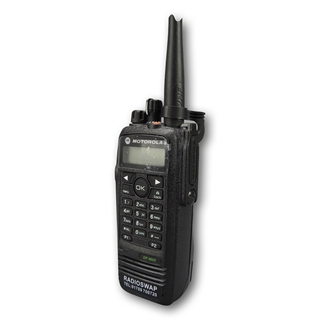 Picture of Motorola DP3600 UHF Walkie-Talkie Two Way Radio (Refurbished) & New Speaker Mic