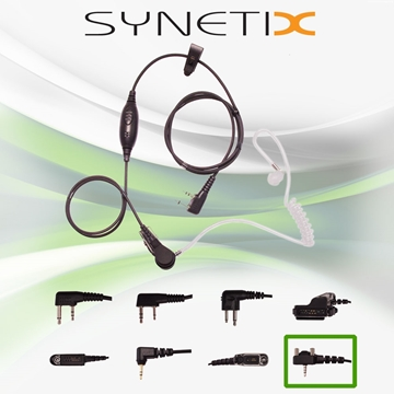 Picture of Vertex Deluxe One Wire Covert Acoustic Tube Earpiece with Inline Mic & PTT (Y4) - By Radioswap Premium