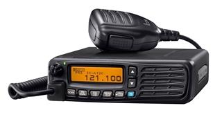 Picture of Icom IC-A120E 8.33/25 kHz ground-based panel-mount vehicle airband radio (New)