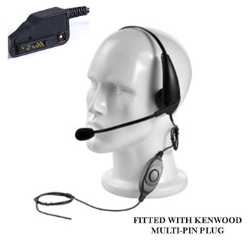 Picture of Kenwood Overhead Boom Headset with PTT (K2 Multipin) (New)