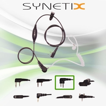 Picture of HYT Deluxe One Wire Covert Acoustic Tube Earpiece with Inline Mic & PTT (M1) - By Radioswap Premium