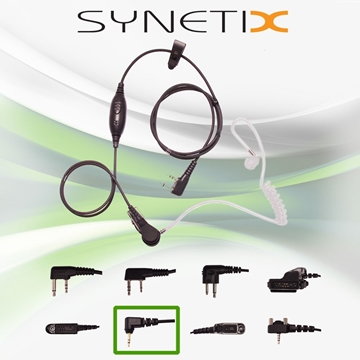 Picture of HYT Deluxe One Wire Covert Acoustic Tube Earpiece with Inline Mic & PTT (M6) - By Radioswap Premium