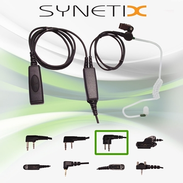 Picture of HYT Deluxe Two Wire Covert Acoustic Tube Earpiece with Mic & PTT (M1) - By Radioswap Premium