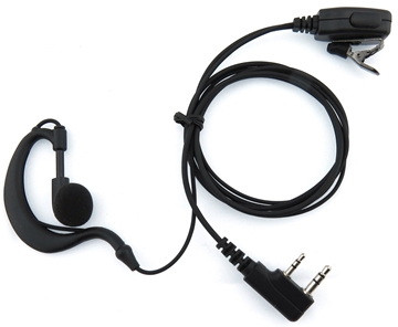 Picture of Tritan DMR G-Shape Earpiece with Mic & PTT