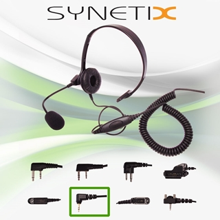 Picture of HYT Lightweight Headset with Boom Mic & Inline PTT (M6) - By Radioswap