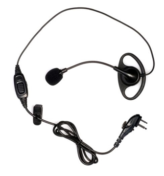 Picture of HYT EHM12 D-Shape Earpiece with Boom Mic & PTT (M1) (New)