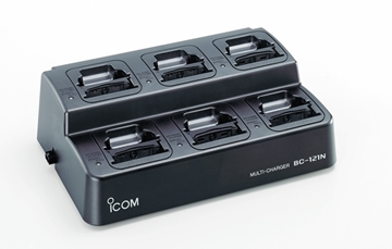 Picture of Icom BC121N 6-Bay Charger with 6 x AD-100 Adapters & BC-157S Power Supply (New)