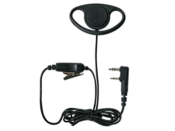 Picture of Kenwood EMC-7 Microphone with Ear Clip And PTT Button