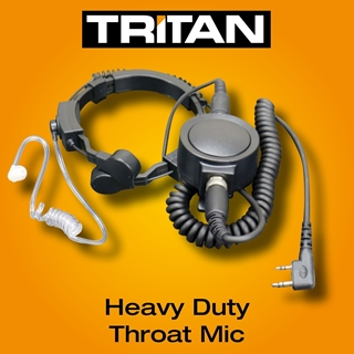Picture of Tritan DMR Heavy Duty Throat Mic & Earpiece