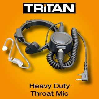 Picture of Tritan Heavy Duty Throat Mic with Covert Earpiece & Large PTT (K1)