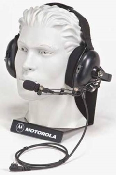 Picture of Motorola HMN9022A Medium-weight Noise Reducing Boom Headset Behind the Head Style