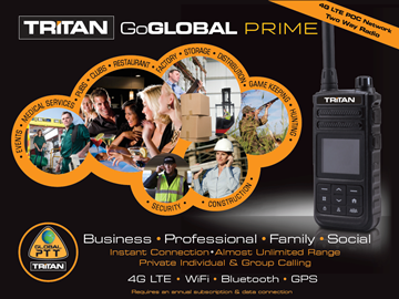 Picture of Tritan GoGlobal Prime 4G LTE POC Network Two Way Radio (New) -  Education Pricing