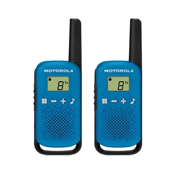 Picture of Motorola T42 Twin Pack Blue Licence Free Two Way Radio Walkie Talkie