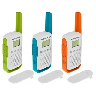 Picture of Motorola T42 Triple Mixed Colours Licence Free Walkie Talkie Two Way Radio