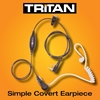 Picture of Tritan Deluxe One Wire Covert Earpiece with Inline Mic & PTT (K1)